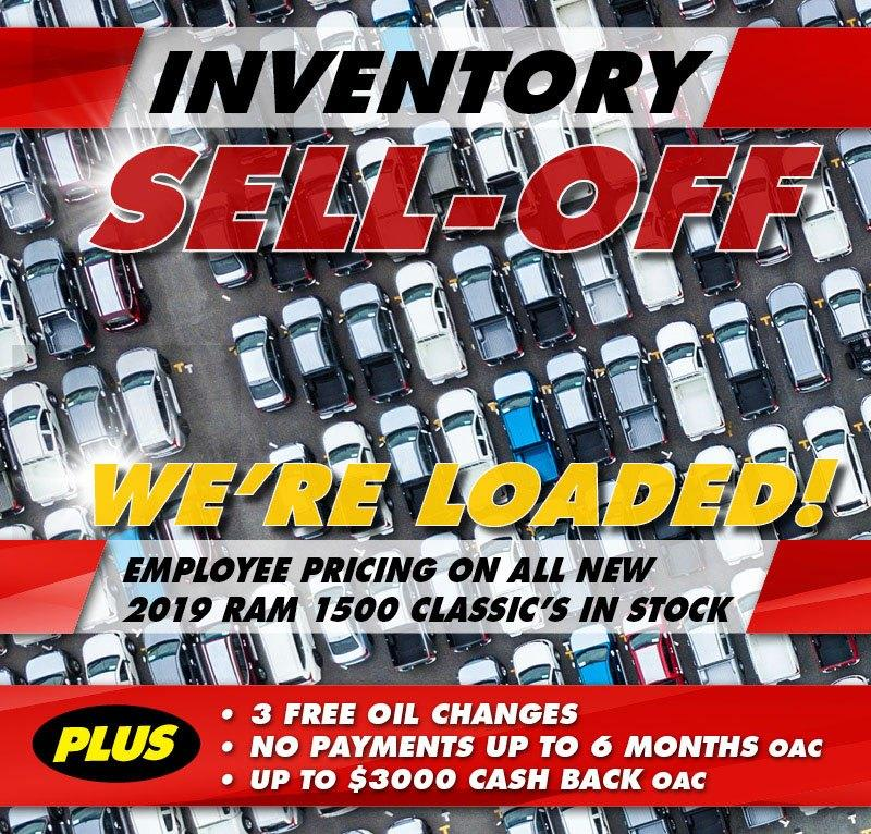 2019 Inventory Sell-Off at Wellington Chrysler Dodge Jeep Ram in 935 Woodlawn Road West